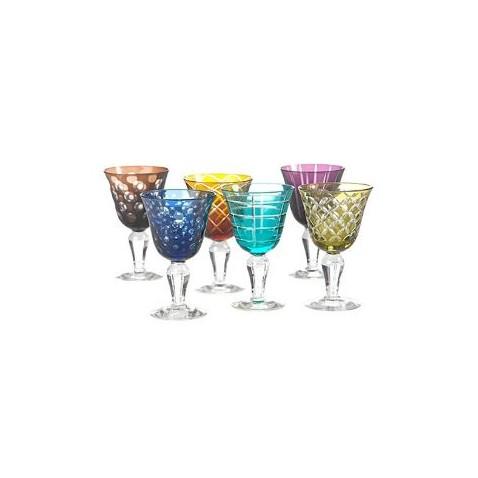 Farebné poháre na víno