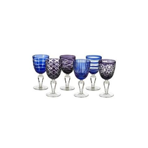 Kobaltové poháre na víno