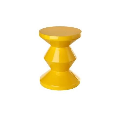 ZIG ZAG žltý stolček