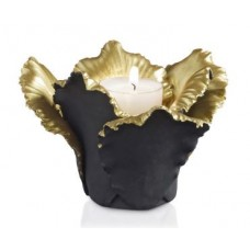Svietnik Tulip rozvinutý čierny