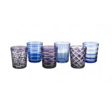 Kobaltovo-modré poháre na vodu